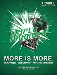 hitachi triple hammer. hitachi power tools introduces a new triple hammer impact driver, model wh18dbdl2 | business wire t