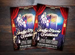 Indie Movie Festival Flyer ~ Flyer Templates ~ Creative Market
