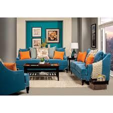 peacock blue furniture. Furniture Of America Estella Retro 3-Piece Peacock Blue Sofa Set L