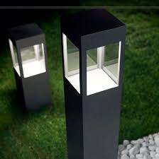 garden lighting bollards. Garden Bollard Light Contemporary Metal Led Evelina Lighting Bollards A