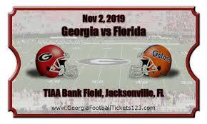Georgia Florida Football Seating Chart Georgia Bulldogs Vs Florida Gators Football Tickets 11 02 19