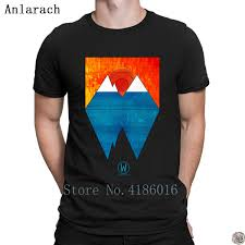 Sunset And Iceberg Tshirts Pop Top Tee Designer Letters Clothing Mens Tshirt Anti Wrinkle Short Sleeve Summer Building Funny T Shirts Cheap As T