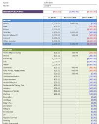 Budgeting Template Excel Simple Personal Budget