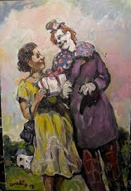 clowns have been a staple for artists for centuries but the insouciance of connelly s version