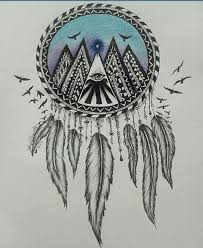 Dream Catcher With Birds Stunning My Drawing Of A Dream Catcher On We Heart It