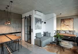 small loft furniture. Small Modern Loft With Industrial Look Furniture W