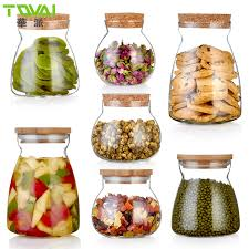 get ations cork lid transpa glass bottles sealed cans storage cans tea caddy moisture snack food grains and