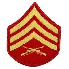 Rank Marine Corps Rank Sergeant E 5 Sgt Gold Red Female Merrowed Edge 1 Each