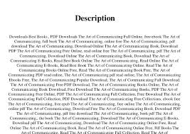 Free Download Pdf The Art Of Communicating Full Pages