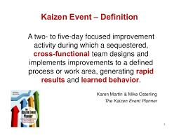 8 Kaizen Event Definition