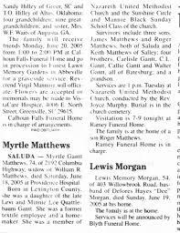 Myrtle Virginia Gantt (wife of William Roton Matthews) obituary -  Newspapers.com