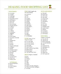 Free Shopping List Template