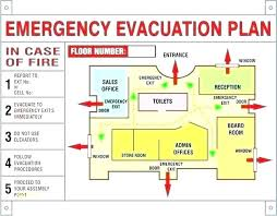 Evacuation Plan Sample Fire Evacuation Template Emergency Diagram Plan Map Safety