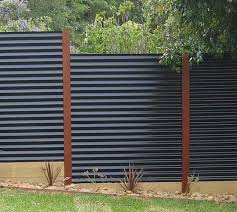 View in gallery Corrugated metal privacy fence