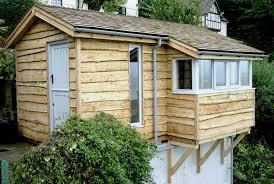 building a garden office. garden office on garage base building a