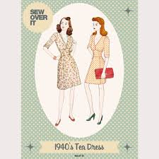 1940s Dress Patterns Enchanting Sew Over It 48's Tea Dress Sewing Pattern Sew Over It Online
