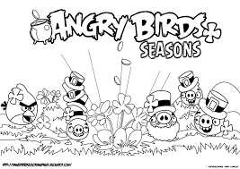 piggies seasons coloring page angry birds papercraft pinterest