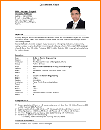 Resume Sample Format For Job Application Free Resume Example And