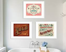 bathroom decor vintage set of 3 prints bathroom art set wall art retro bathroom decor retro typography bathroom art bath decor print on wall art set of 3 bathroom with bathroom wall art set of 4 photographs cottage chic bathroom