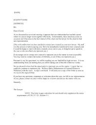 Firing Letter Sample Attorney Termination Letter Search And Download Free Cover