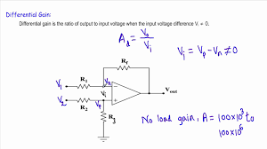 op amp slew rate diffeial gain common mode rejection ratio you