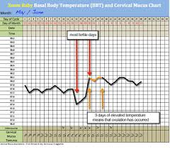 Sample Bbt Chart Showing Ovulation Basal Thermometer And Free Bbt Chart