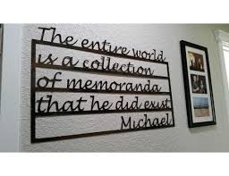 custom metal words wall art