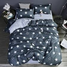 grey stars stripes bedding set polyester super soft duvet cover flat sheet pillowcase full queen size king 4 dorp purple duvet cover zebra bedding