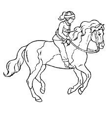 Dieren Kleurplaten Meisje Op Paard