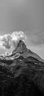 mz51-mountain-snow-sky-nature-bw