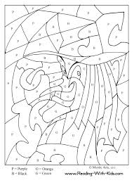 Small Picture Color by number coloring pages