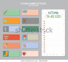 Cute Contact List Template Cute Daily Calendar Do List Template Stock Vector Royalty