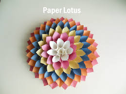 How To Make A Lotus Flower Out Of Paper Paper Lotus 6 Steps With Pictures