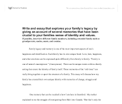 write and essay that explores your family s legacy by giving document image preview