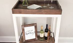 coffee table with fridge fresh diy bar cart