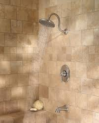 satin nickel bathroom faucets: hanover shower nickel pfister hanover  tmkk nickel shower lg