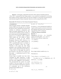 (PDF) <b>NEW CHINESE</b> REMAINDER THEOREM AND MODULI SETS