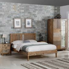 Solid Bedroom Furniture Hutchar Reclaimed Wooden Bedroom Furniture
