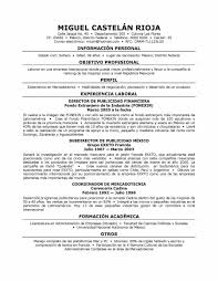 Spanish Resume Template Interesting To Resume In Spanish To Resume In Spanish