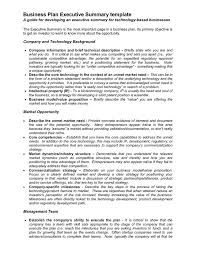 Executive Summary Sample For Proposal Business Proposal Templates Examples Business Plan