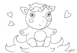 Schattige Baby Eenhoorn Kleurplaat Gratis Kleurplaten Printen