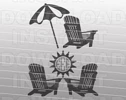 adirondack chair silhouette. Simple Silhouette Adirondack Chairs SVG FileBeach Monogram FileCutting TemplateVector  Clip Art For Commercial U0026 Personal UseCricutCameoSilhouette With Chair Silhouette D