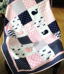 Pretty Baby Girl Quilt Patterns Baby Whale Quilt In Pink Navy And ... & Pretty Baby Girl Quilt Patterns Baby Whale Quilt In Pink Navy And White By  Lovesewnseams On Adamdwight.com