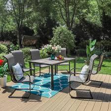 piece metal outdoor patio dining set