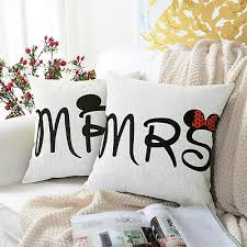 mickey minnie mouse mr mrs cushion