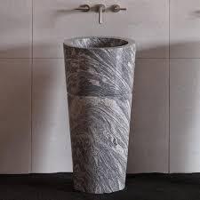 Marble pedestal sink Bathroom Vanity Veneto Pedestal Sink Cumulo Granite Materialicious Veneto Pedestal Sink Cumulo Granite Stone Forest