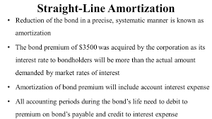 amortizing bond discount bond premium and straight line amortization youtube