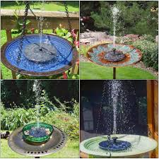 garden fountain solar power fountain pump