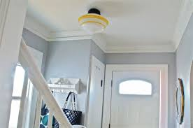 with nine flush mount fixtures throughout her home three have been upgraded kate has plans to continue adding the nostalgic touch that schoolhouse