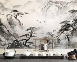 Us 90 40 Offbeibehang Woonkamer Tv Achtergrond Wallpaper Klassieke Sfeer Inkt Schilderij Landschap Achtergrond Wanddecoratie Behang In Beibehang